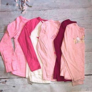Bundle of pink girl shirts size Xl
